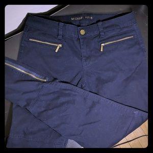 Dark Blue Skinny Straight Leg Pants